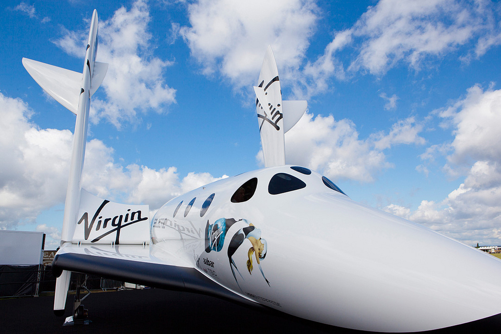 Virgin Galactic at the Farnborough Air Show