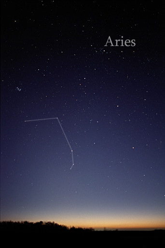 Aries is a mid-size constellation in the Northern Hemisphere.