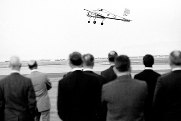 Space History Photo: Bell X-14A VTOL Demonstration