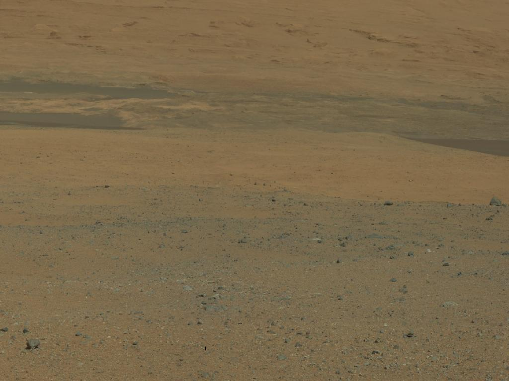 Curiosity Looks South Toward Mount Sharp