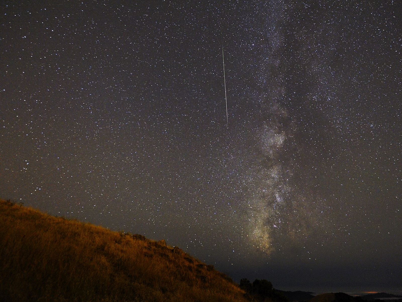 Perseids Meteor Shower from Santa Cruz Mountains