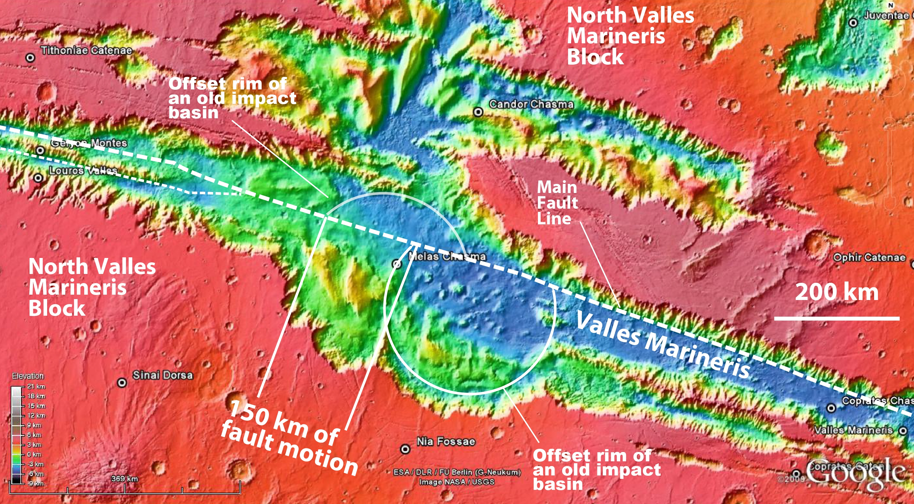 Valles Marineris holds evidence of active plate tectonics on Mars