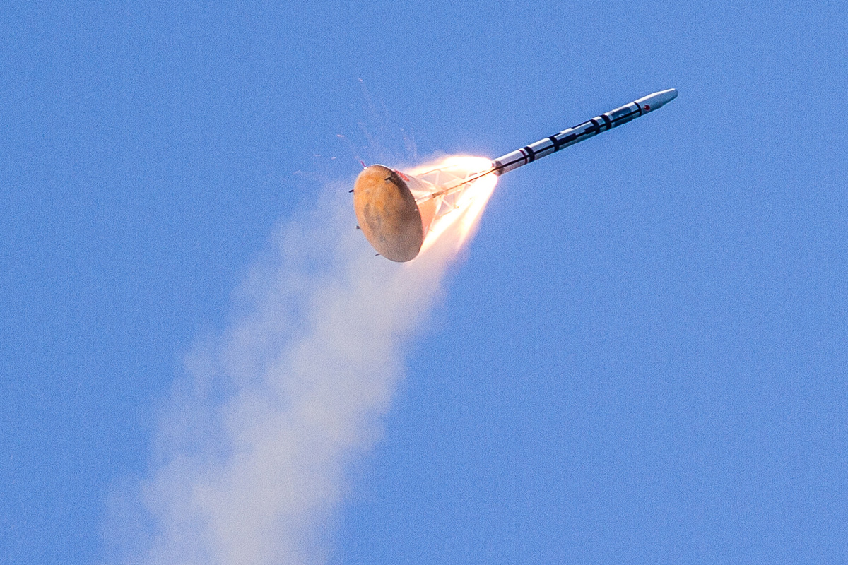 Copenhagen Suborbital LES Rocket Going Out of Control