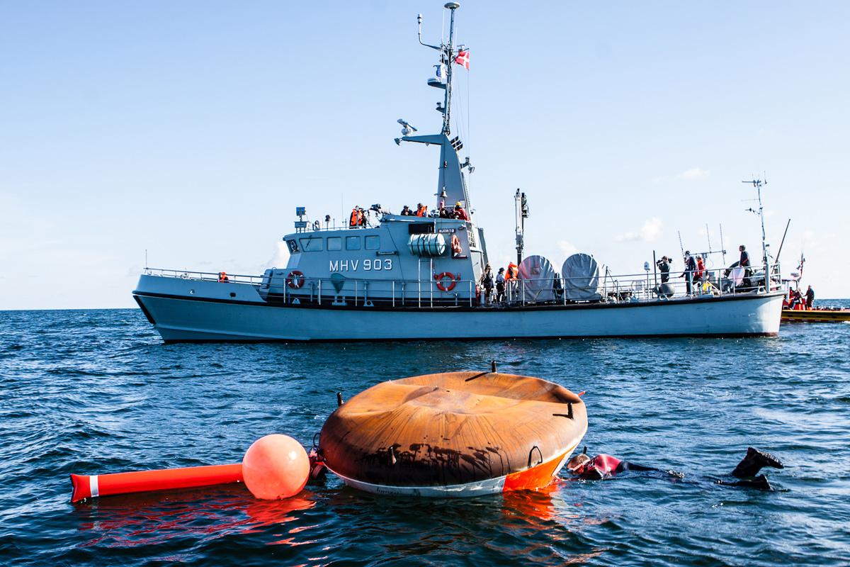 Copenhagen Suborbitals' Tycho Deep Space Capsule Floating