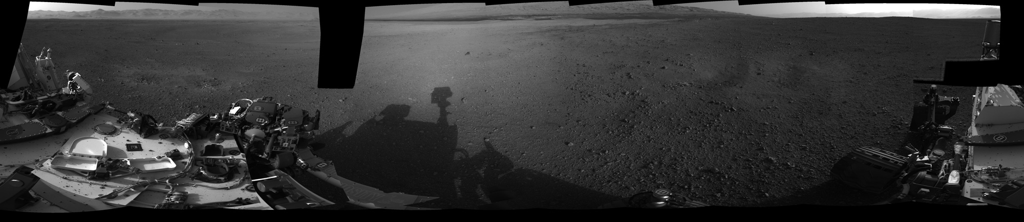 Crisp View from Inside Gale Crater: Panorama