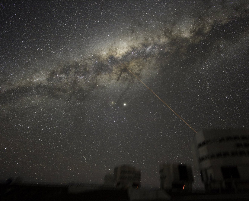 Galactic Center Seen from Paranal Observatory