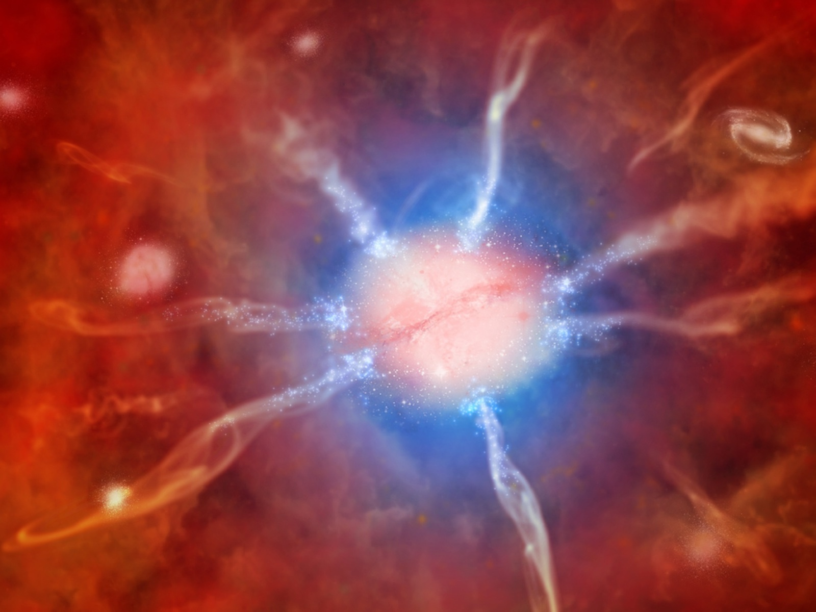 Artist's Impression of Phoenix Cluster Galaxy