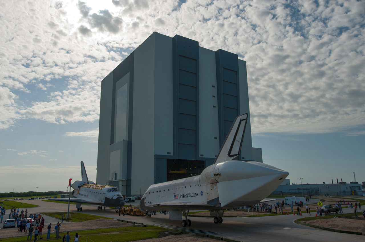 NASA Space Shuttles Meet Nose-to-Nose for Final Time