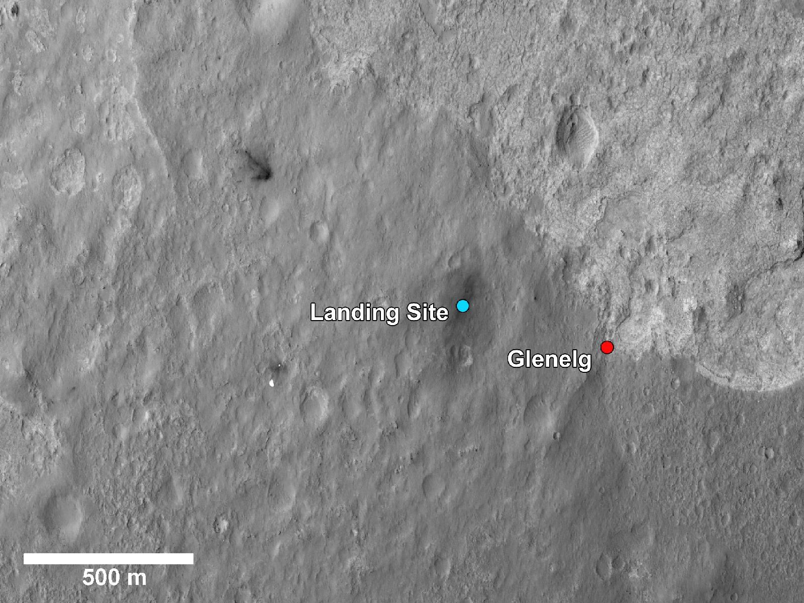 Glenelg Intrigues Mars Rover Curiosity