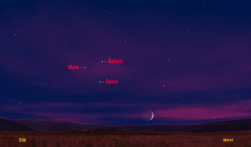 Spot Mars in the Night Sky Before It Disappears