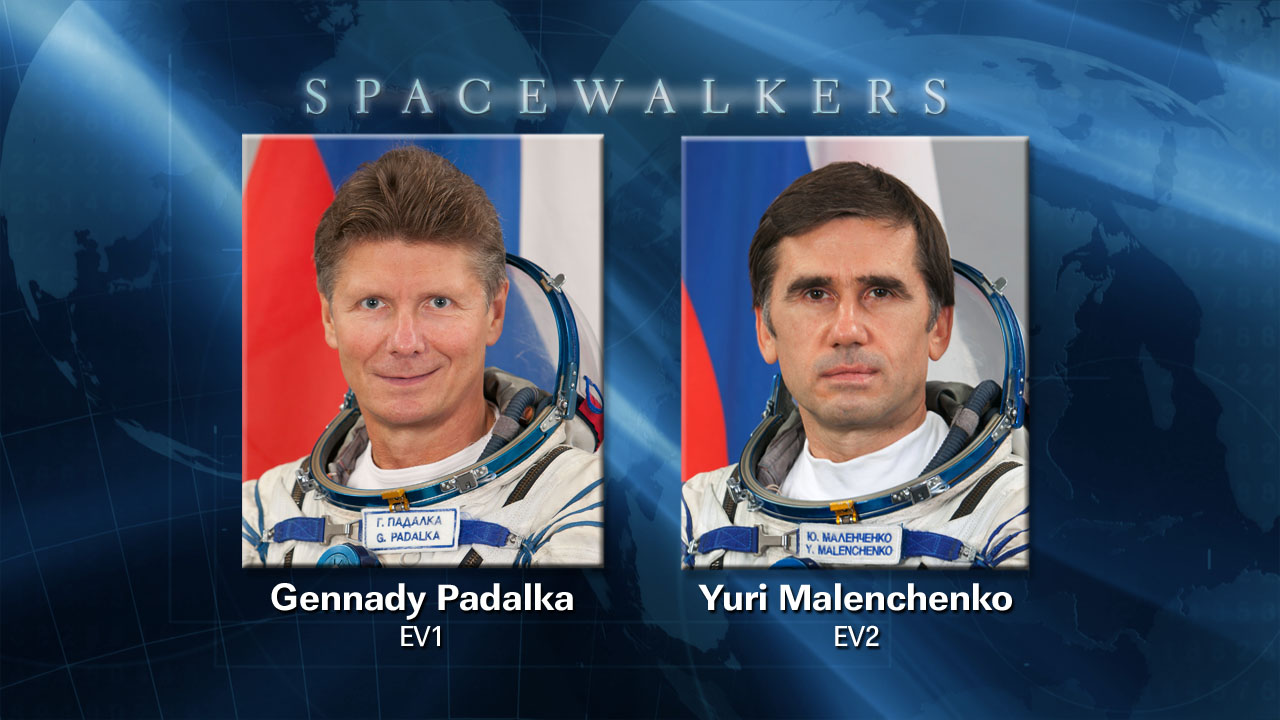 Cosmonaut Spacewalkers for Aug. 20 Excursion