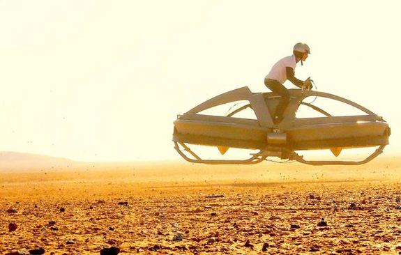 The Aerofex hover vehicle undergoes flight tests in California's Mojave Desert.