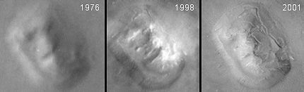 A look at how our view of the face on Mars has changed over time