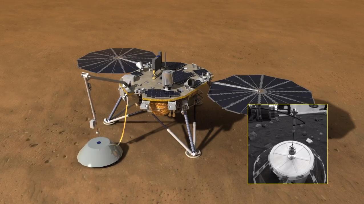 InSight Mars Lander Covers Seismic Sensor