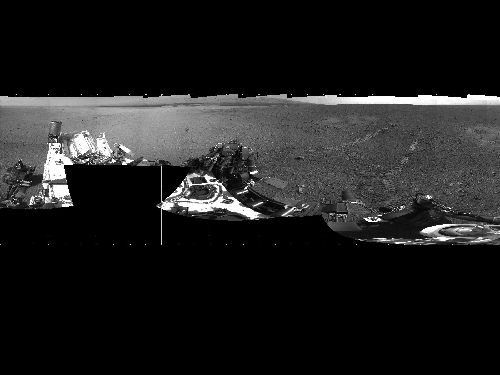 Mars Rover Curiosity: 1st Drive Panorama