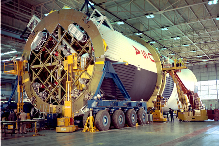 Space History Photo: Saturn V Tanks Mated