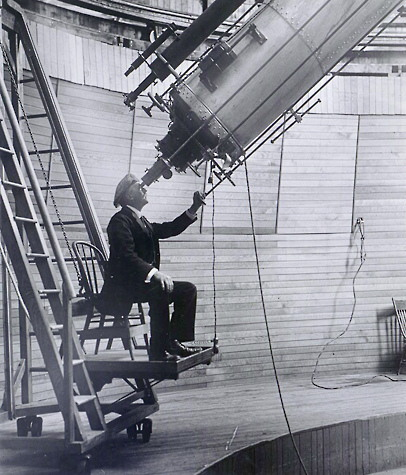 Lowell at the Clark Telescope