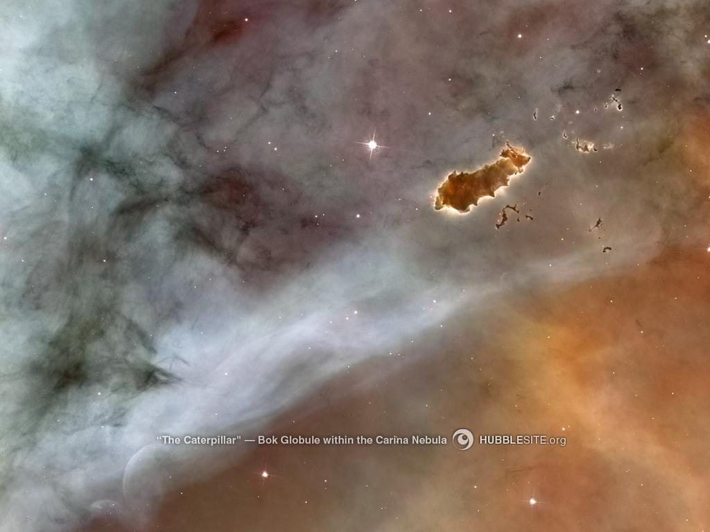 The Caterpillar,  a Bok Globule in the Carina Nebula