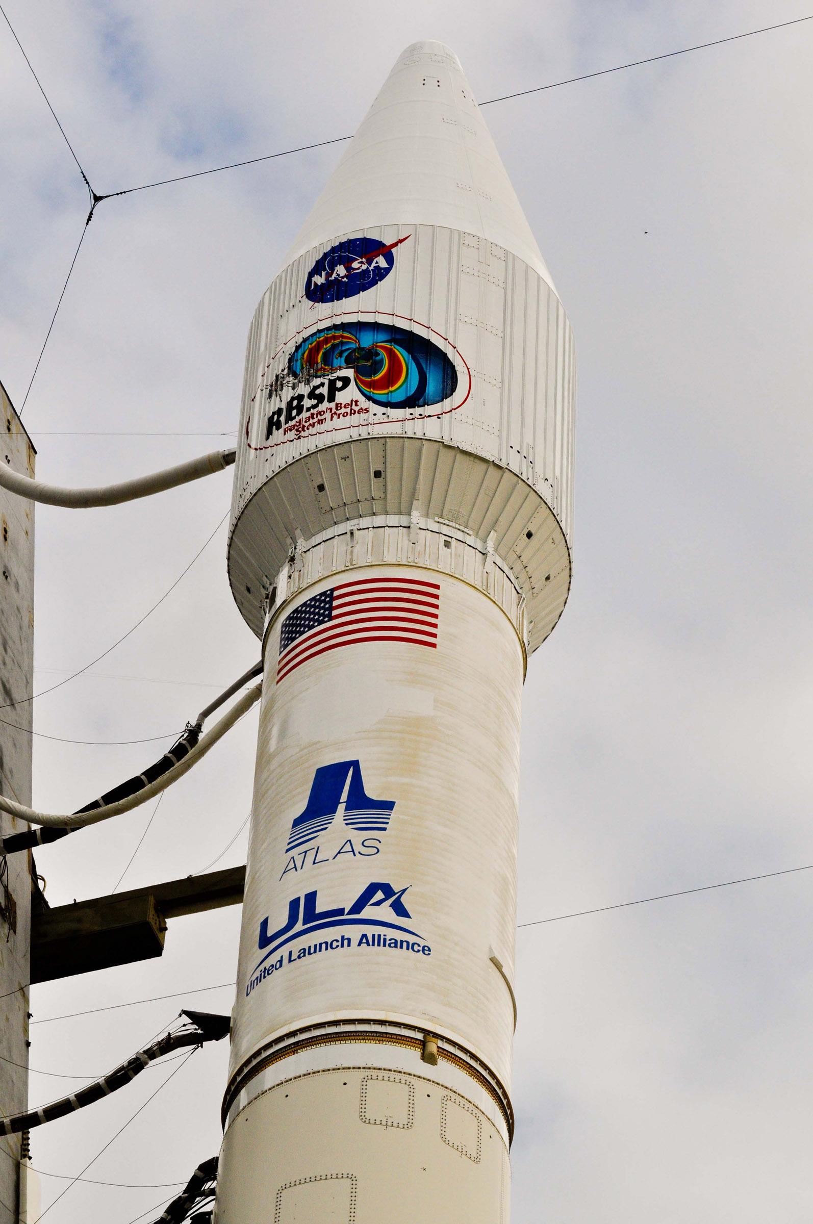 Top of Atlas V Rocket Carrying RBSP Satellite