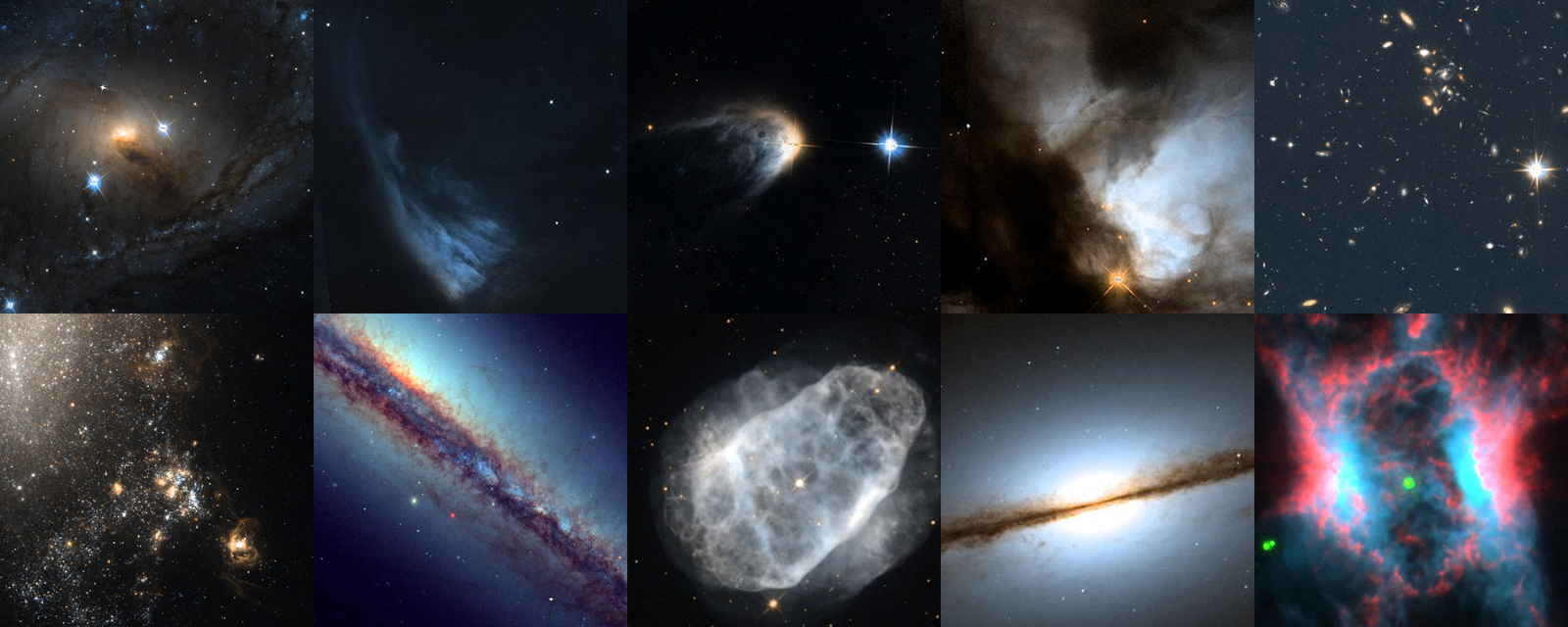 Hubble's Hidden Treasures Basic Competition Top Ten Images