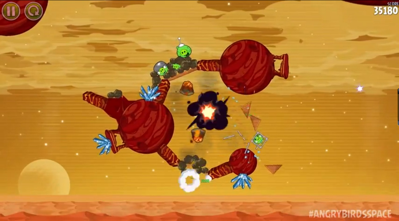 Angry Birds Space: Red Planet Gameplay