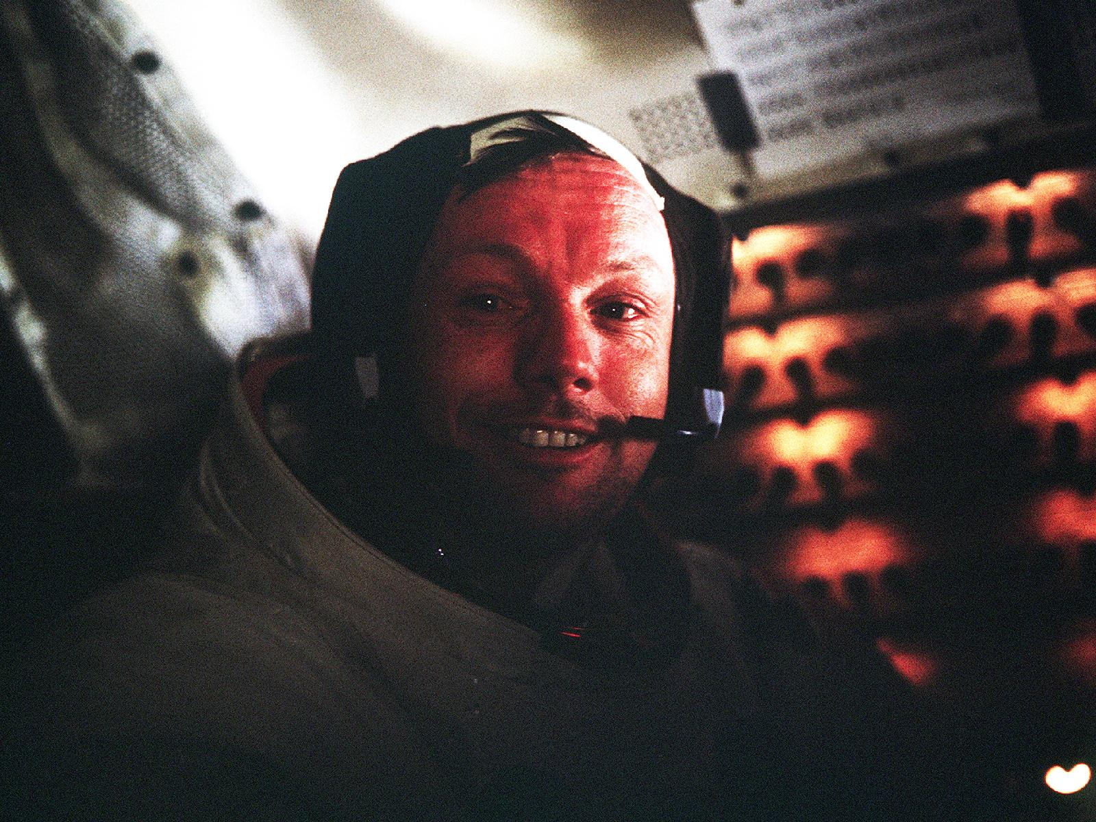 Neil Armstrong Smiles After 1st Moonwalk