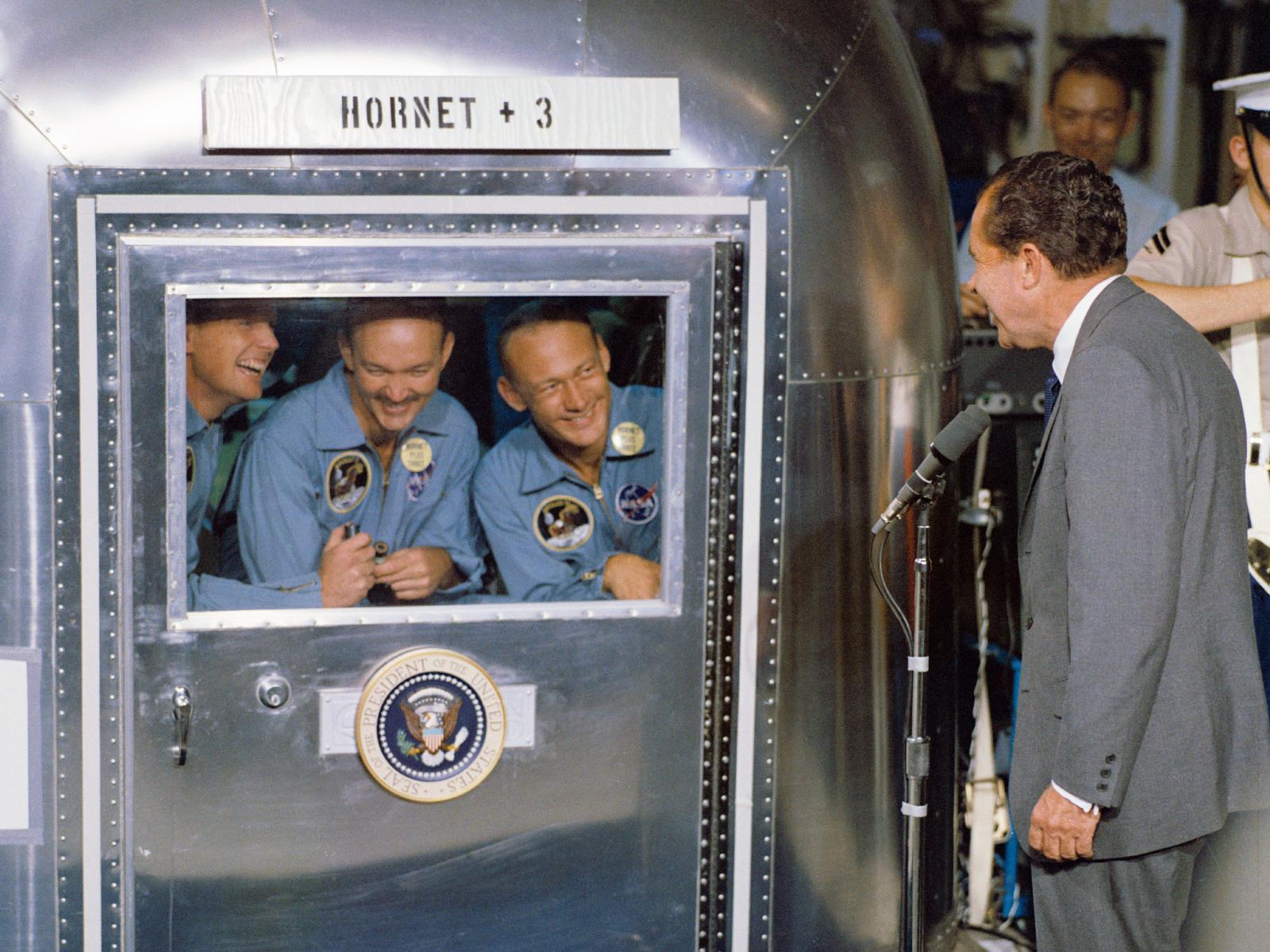 Nixon Welcomes Neil Armstrong and Apollo 11 Crew
