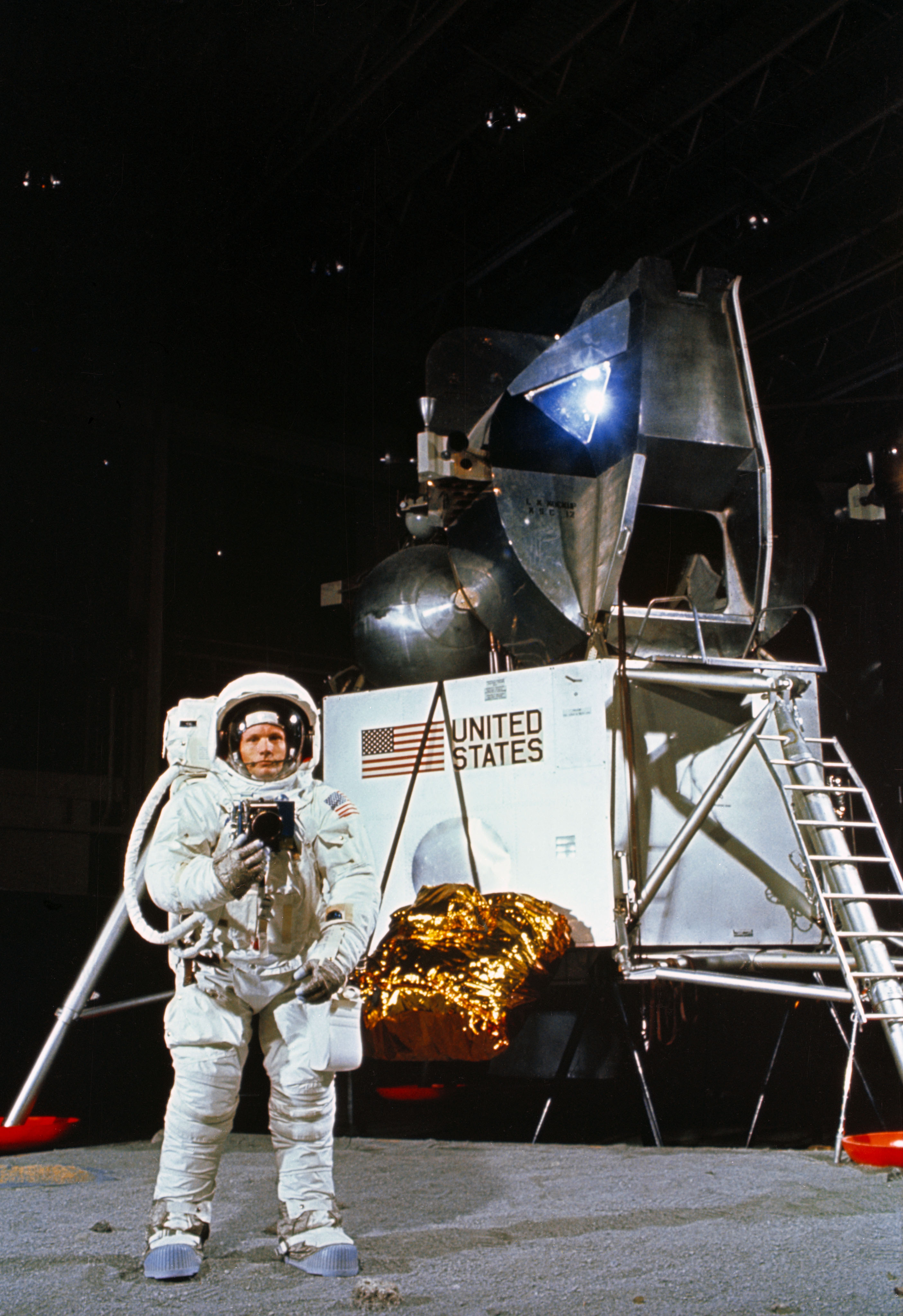 Apollo 11 Moonwalk Training: Neil Armstrong