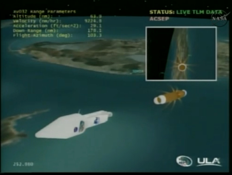 Radiation Probes Launch: Stage Separation