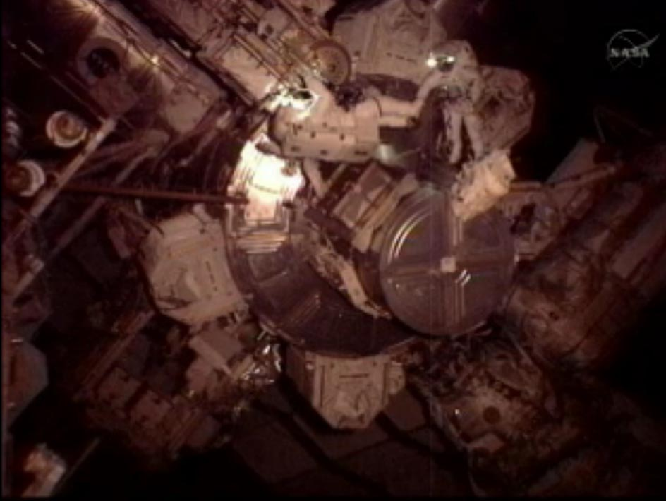 Astronauts Take Spacewalk Outside Space Station