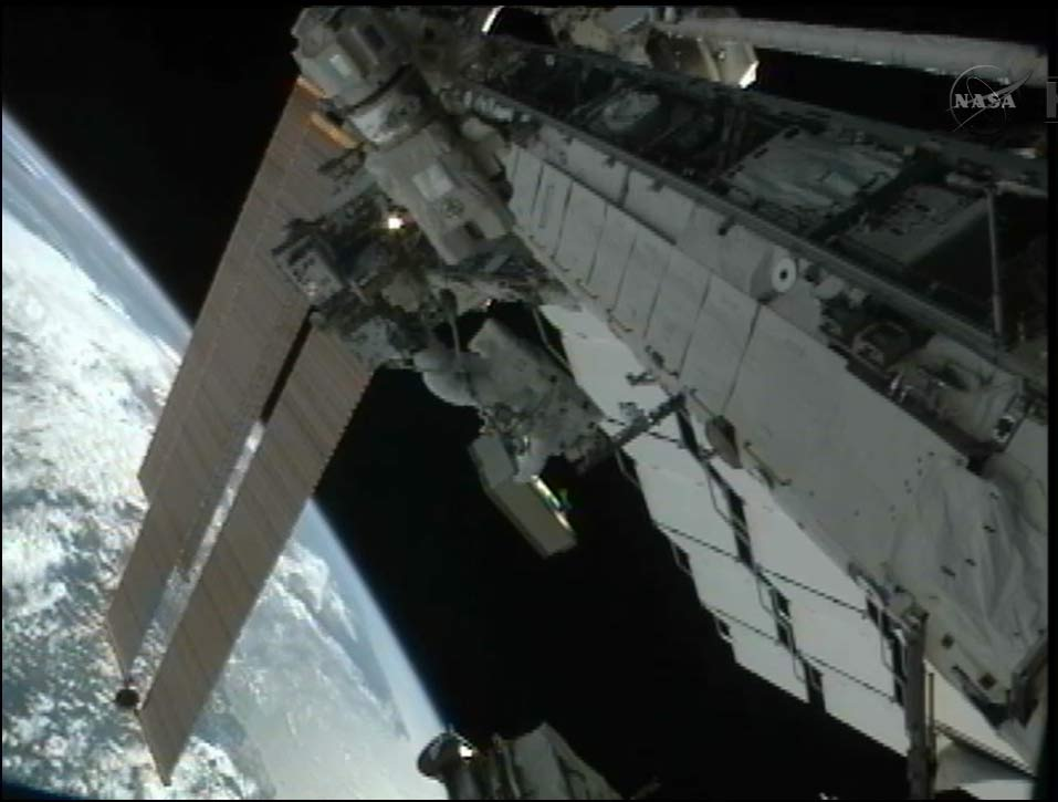 Astronauts Battle Stuck Space Station Bolts in Marathon Spacewalk