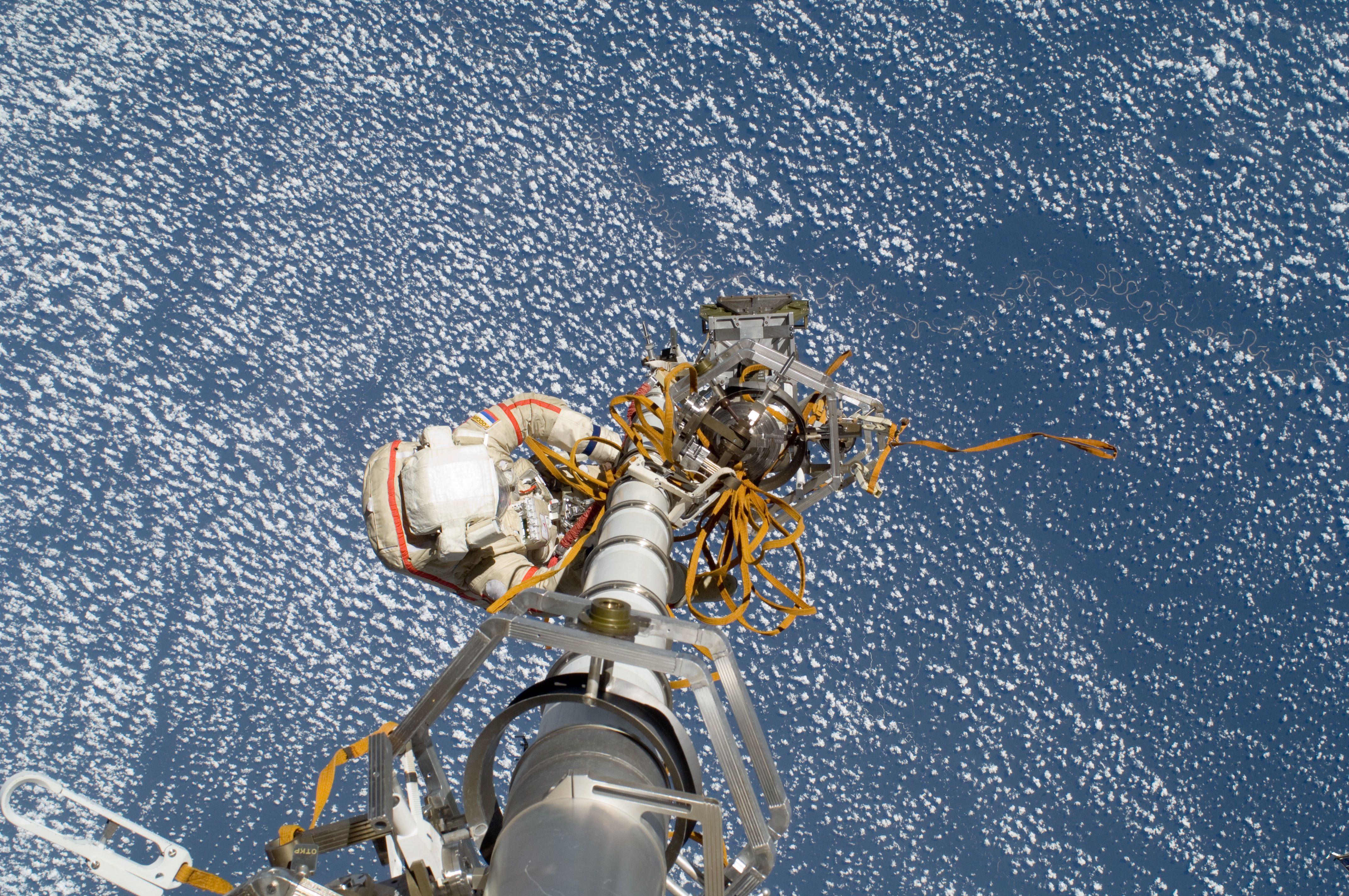 Russian Cosmonaut Preps for Spacewalk