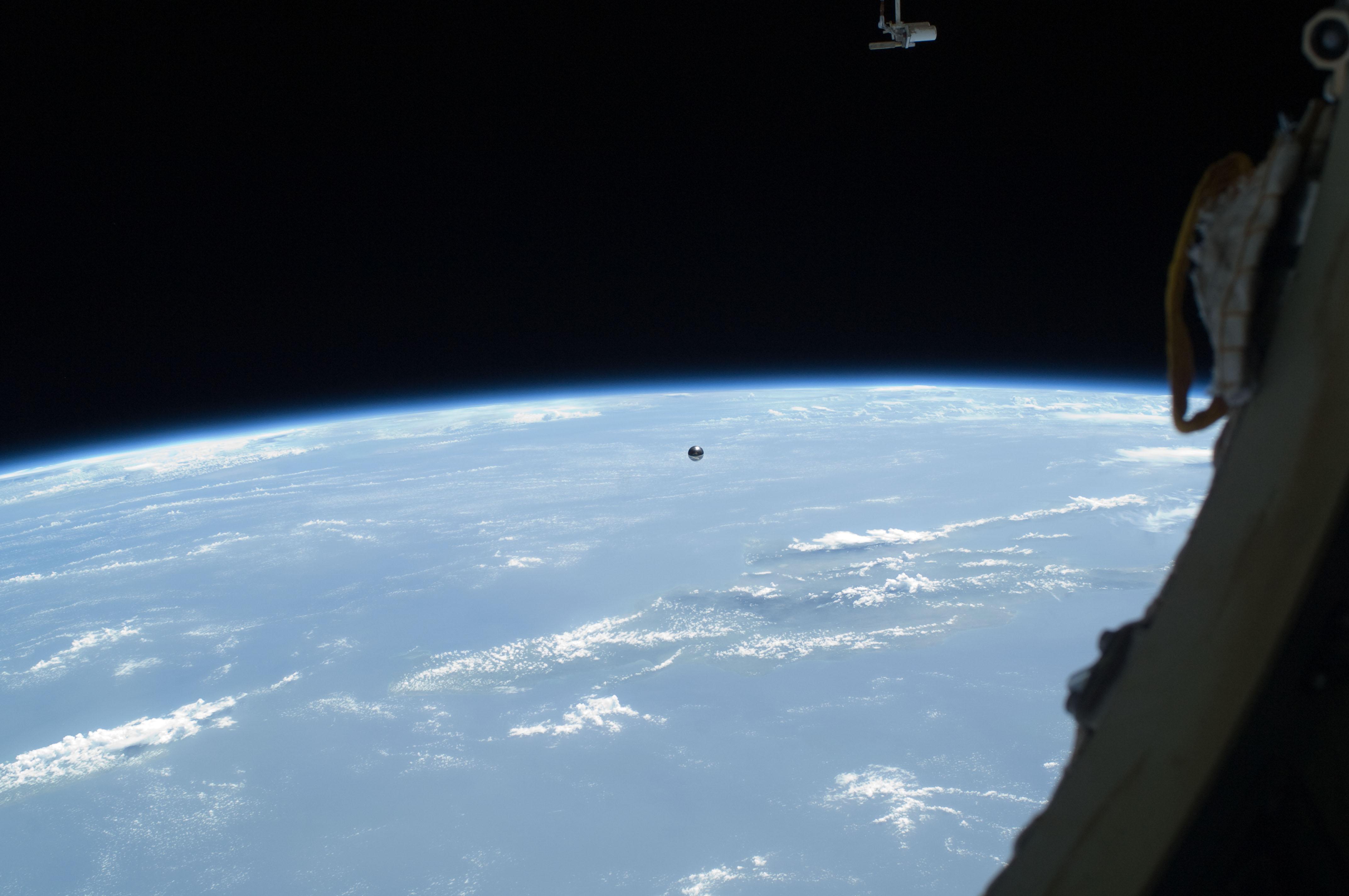 Satellite Floating Away