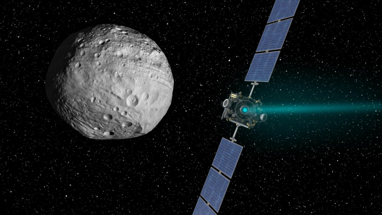 Dawn Spacecraft Leaving Huge Asteroid Vesta Next Week