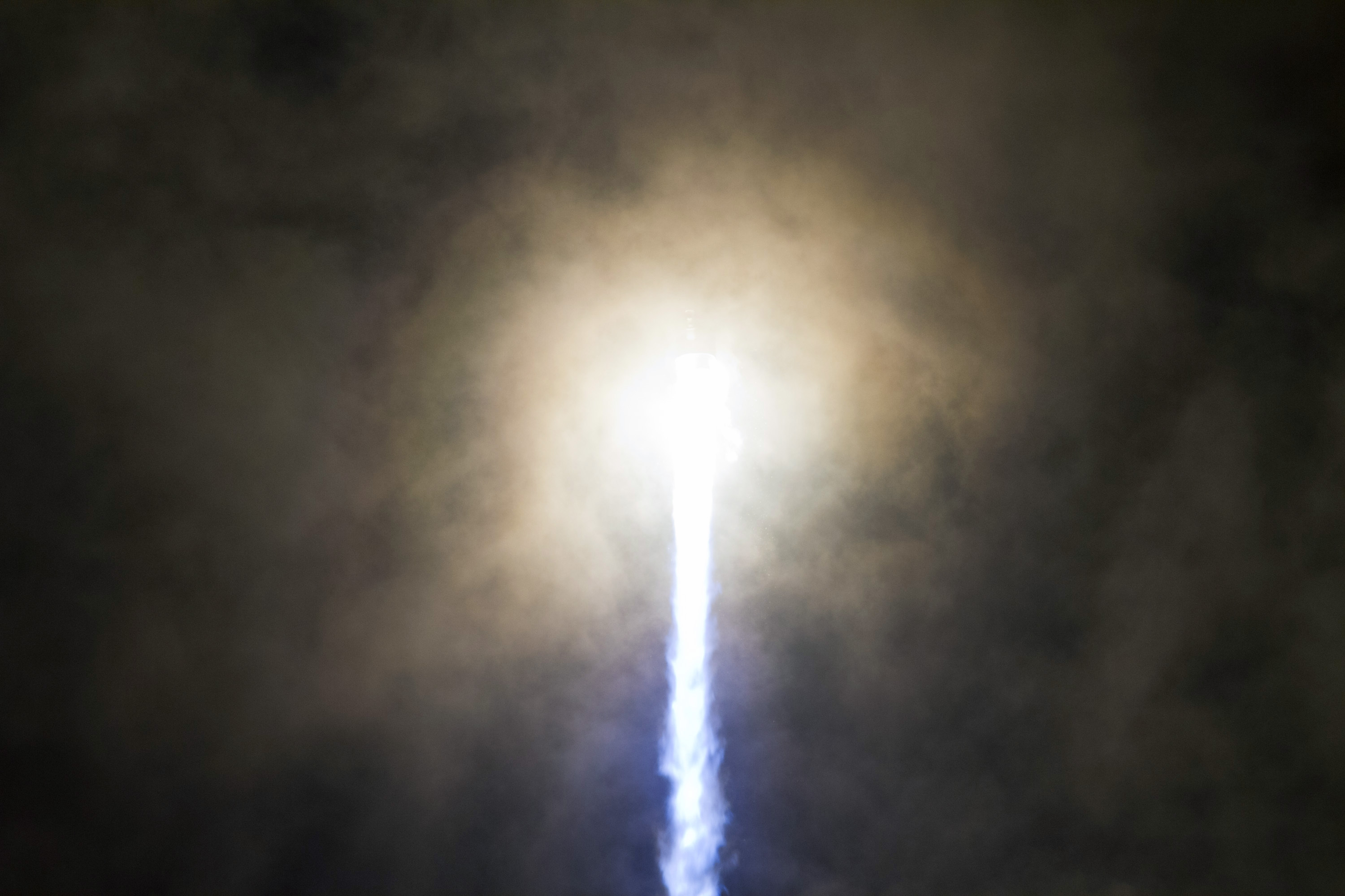 United Launch Alliance Atlas 5 Engines Glow ( Close-up)