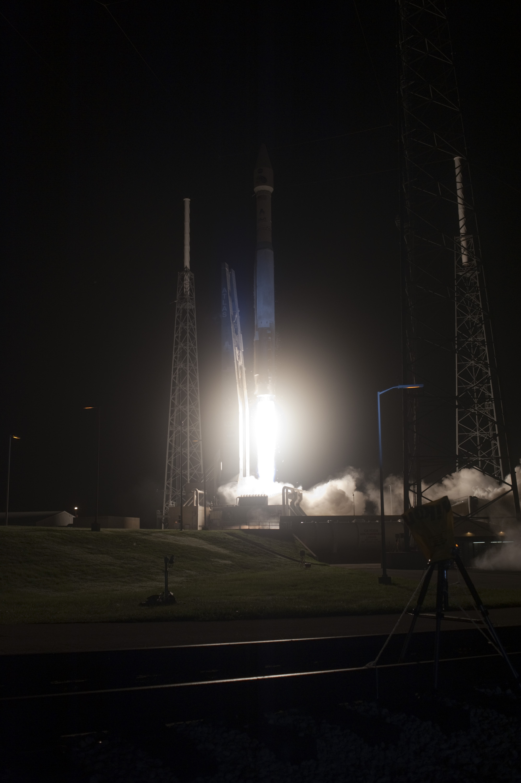 Blue Hue from Atlas V Launch