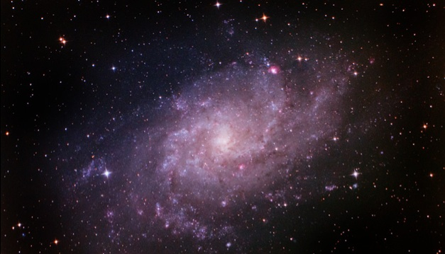 Spiral Triangulum Galaxy Shines in Stargazer's Photo