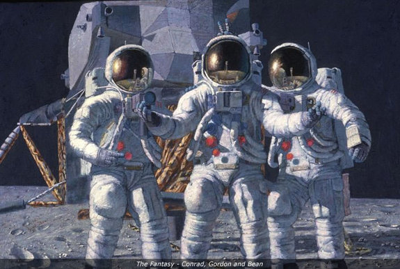 'The Fantasy - Conrad, Gordon and Bean' by Alan Bean