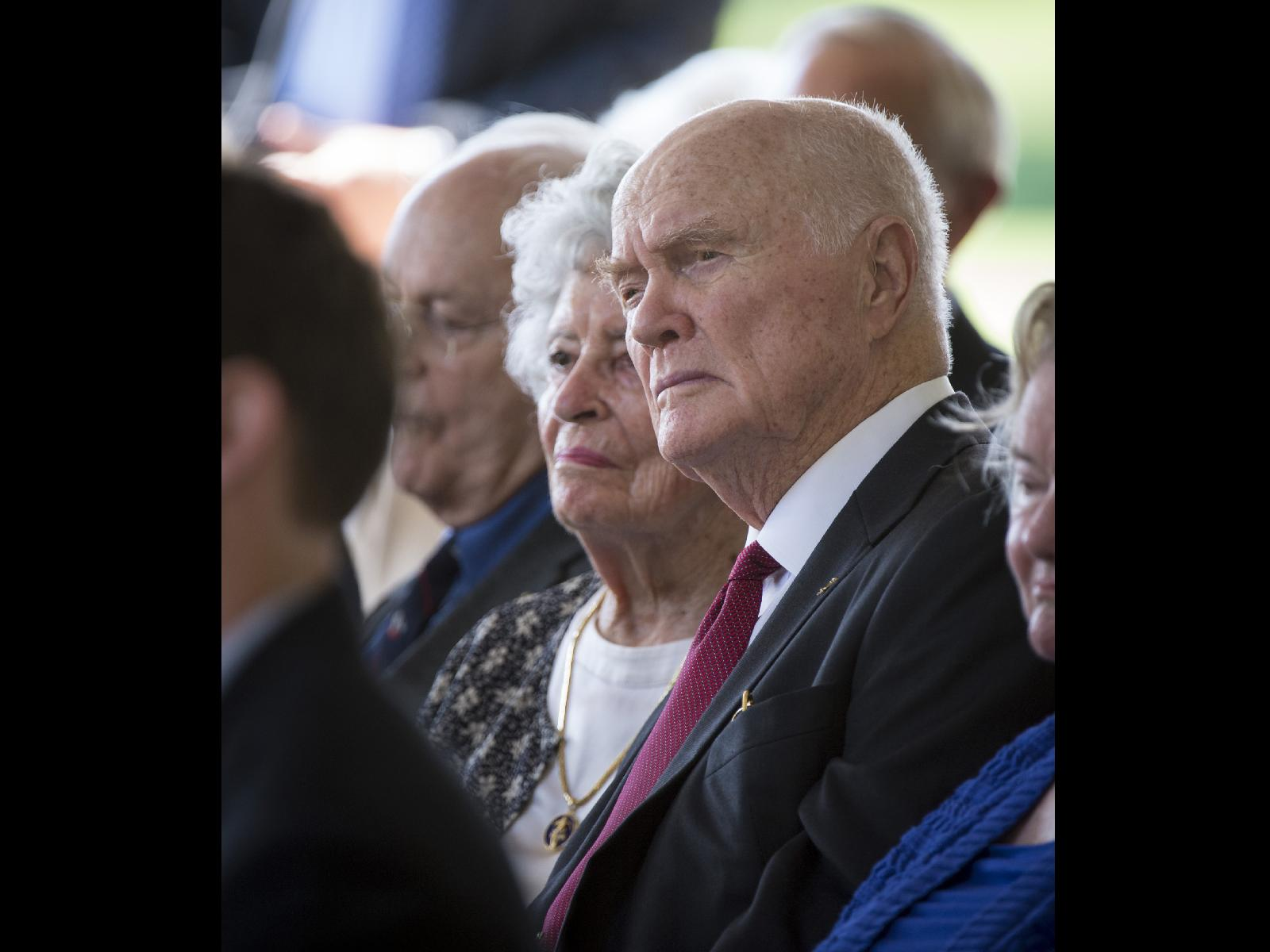 John Glenn at Neil Armstrong's Memorial