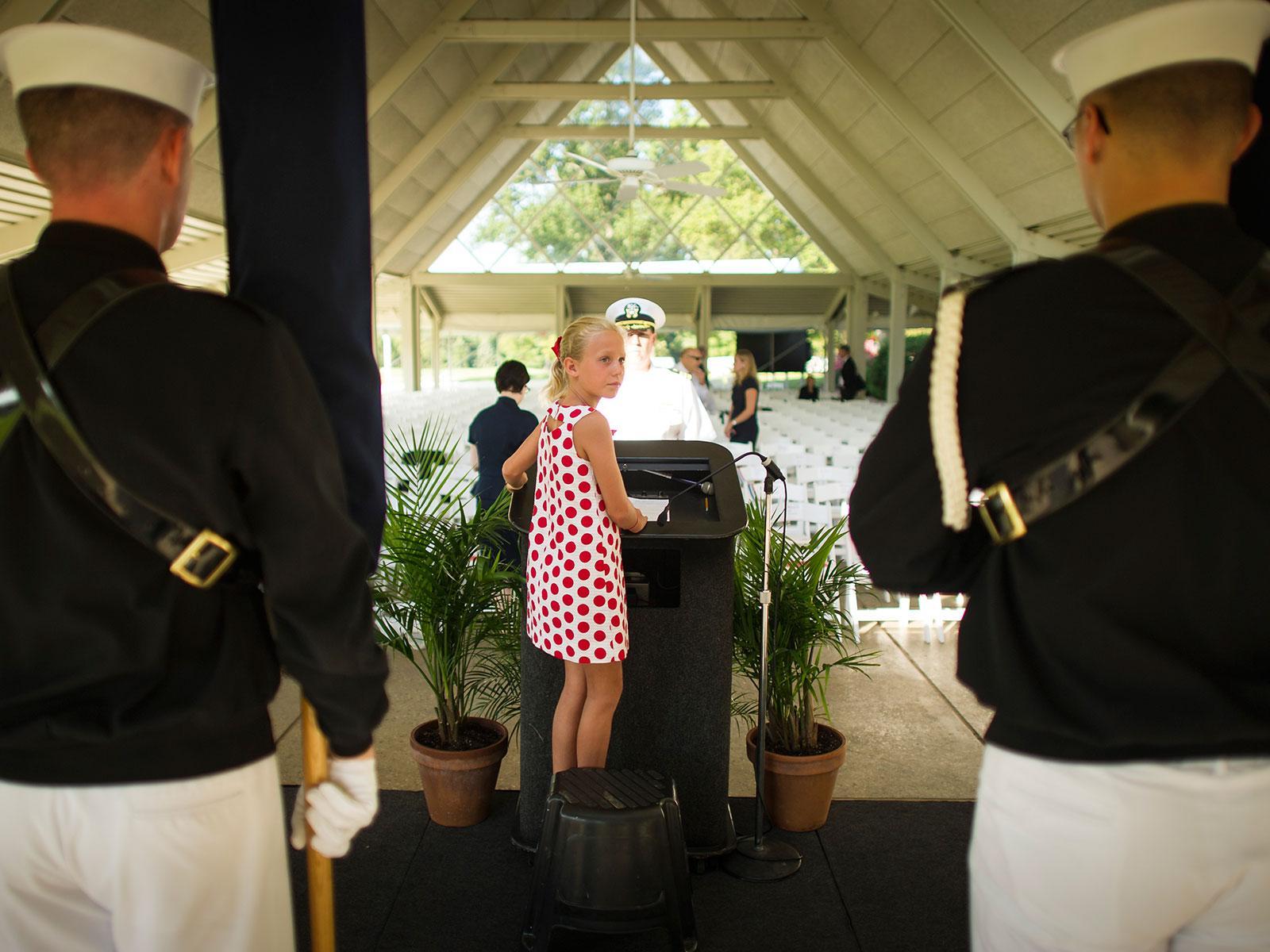 Neil Armstrong Memorial: Granddaughter
