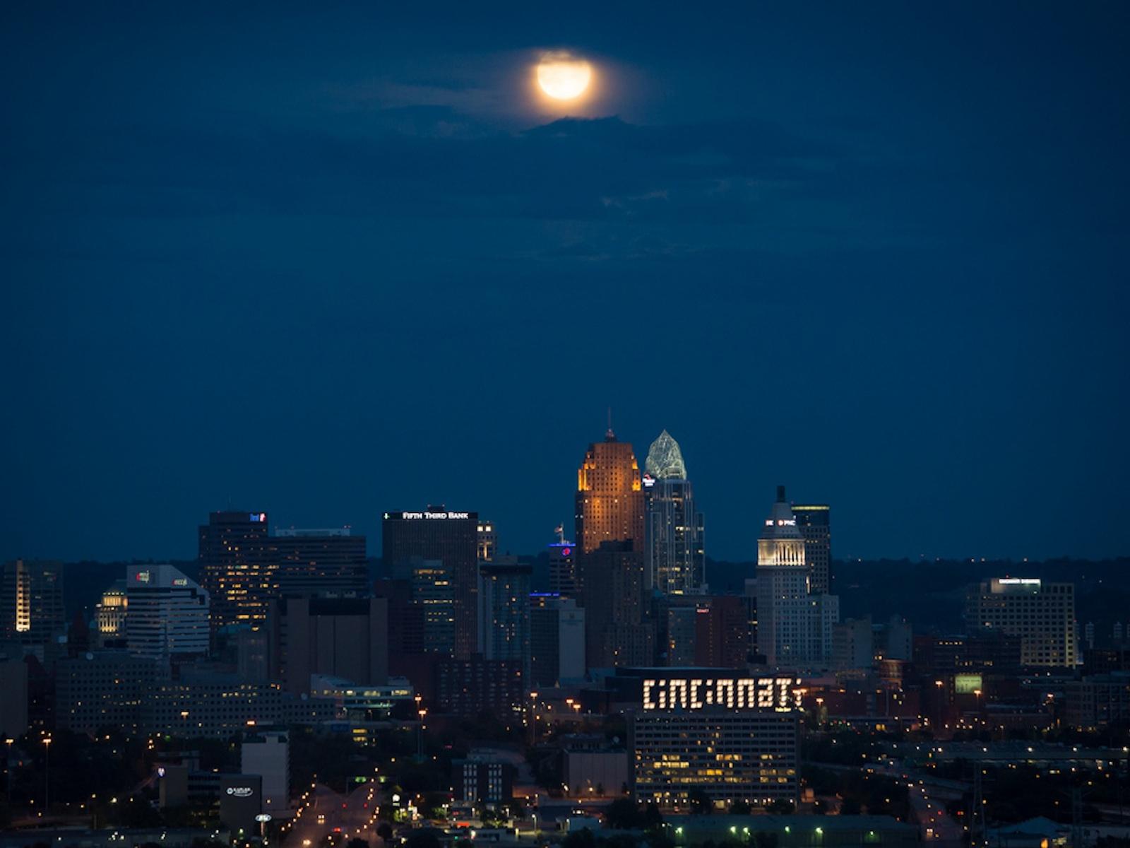 Blue Moon Over Cincinnati
