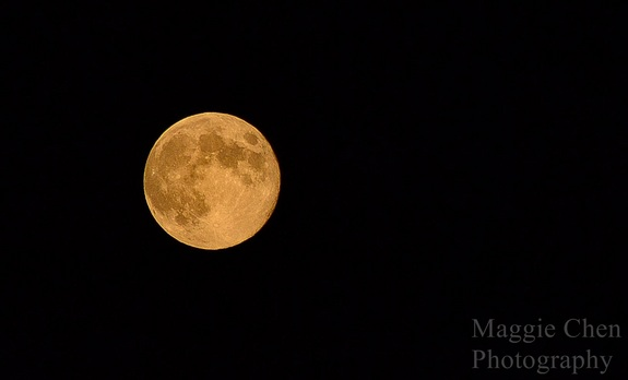 Maggie Chen took this photo of the blue moon August 31, 2012 at around 8:20 p.m. ET.