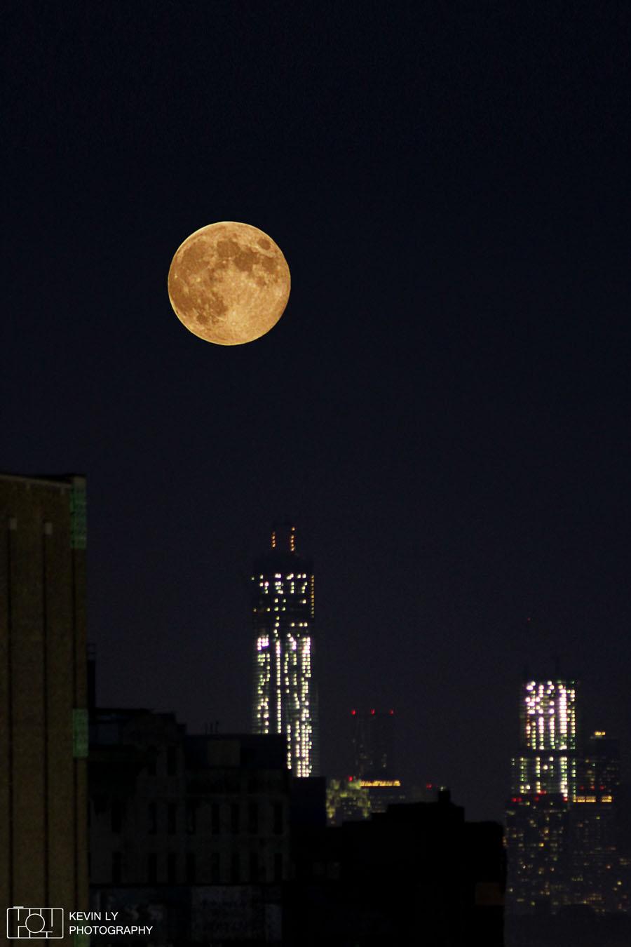 Blue Moon Over World Trade Center