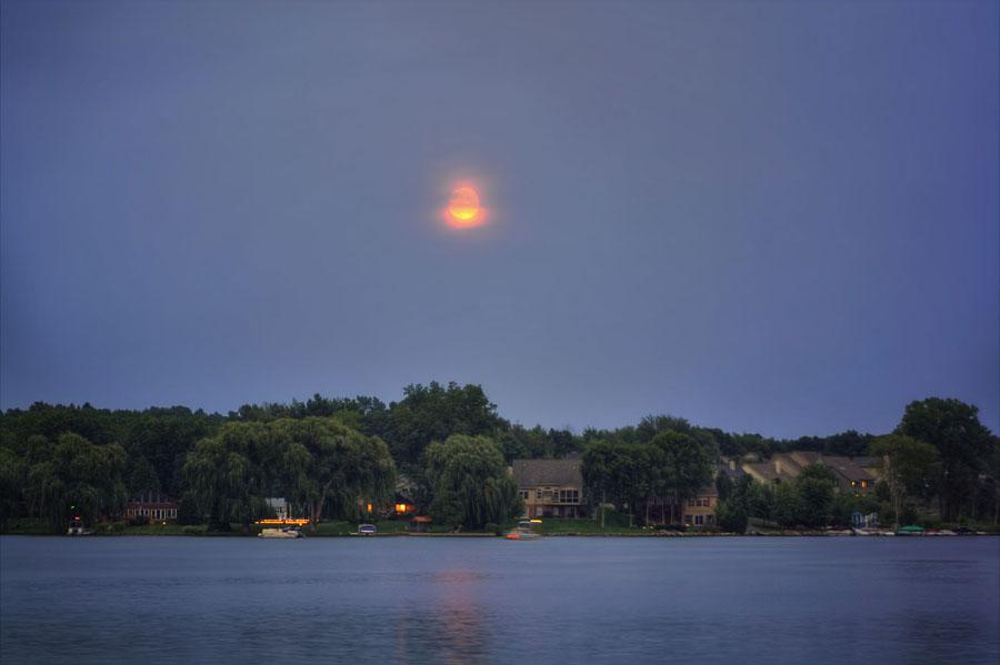 Overcast Blue Moon