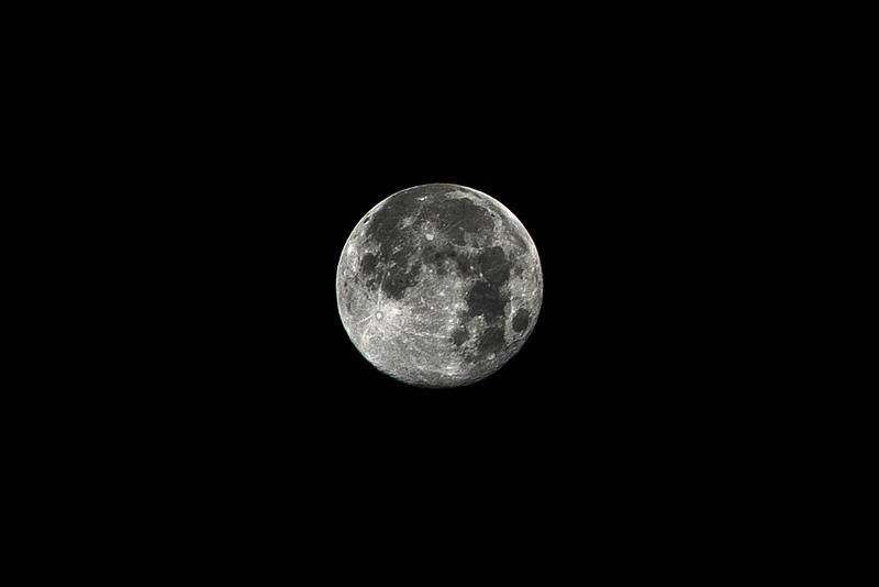 Crisp Blue Moon