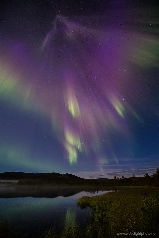 Photographer Ole Salomonsen captured this stunning shot of the northern lights above Namaikka, Finland, on Sept. 4, 2012.