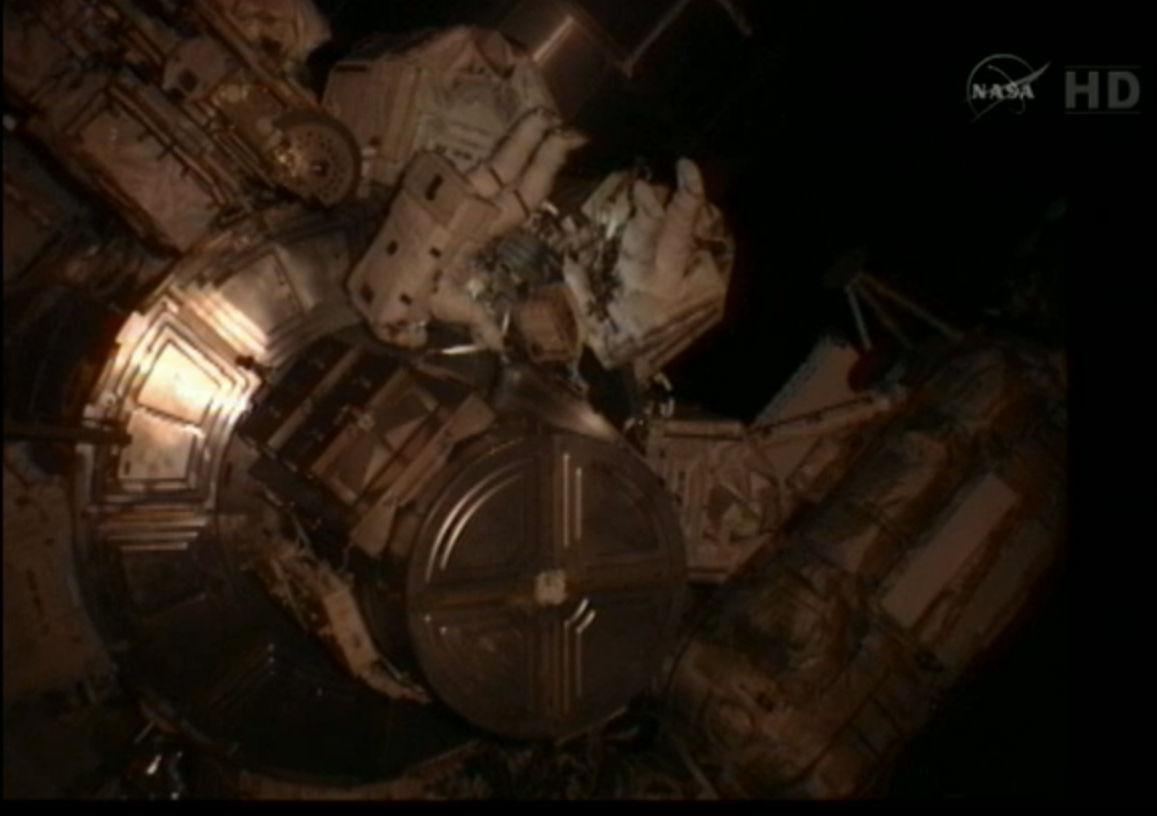 Spacewalkers Suni Williams and Akihiko Hoshide