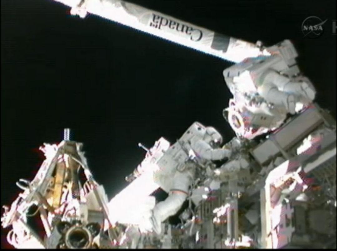 Spacewalkers Prepare Space Station Robotic Arm