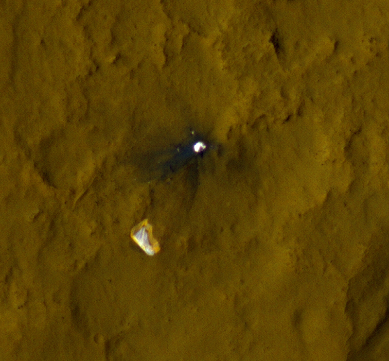 Mars Rover Curiosity's Parachute from Space