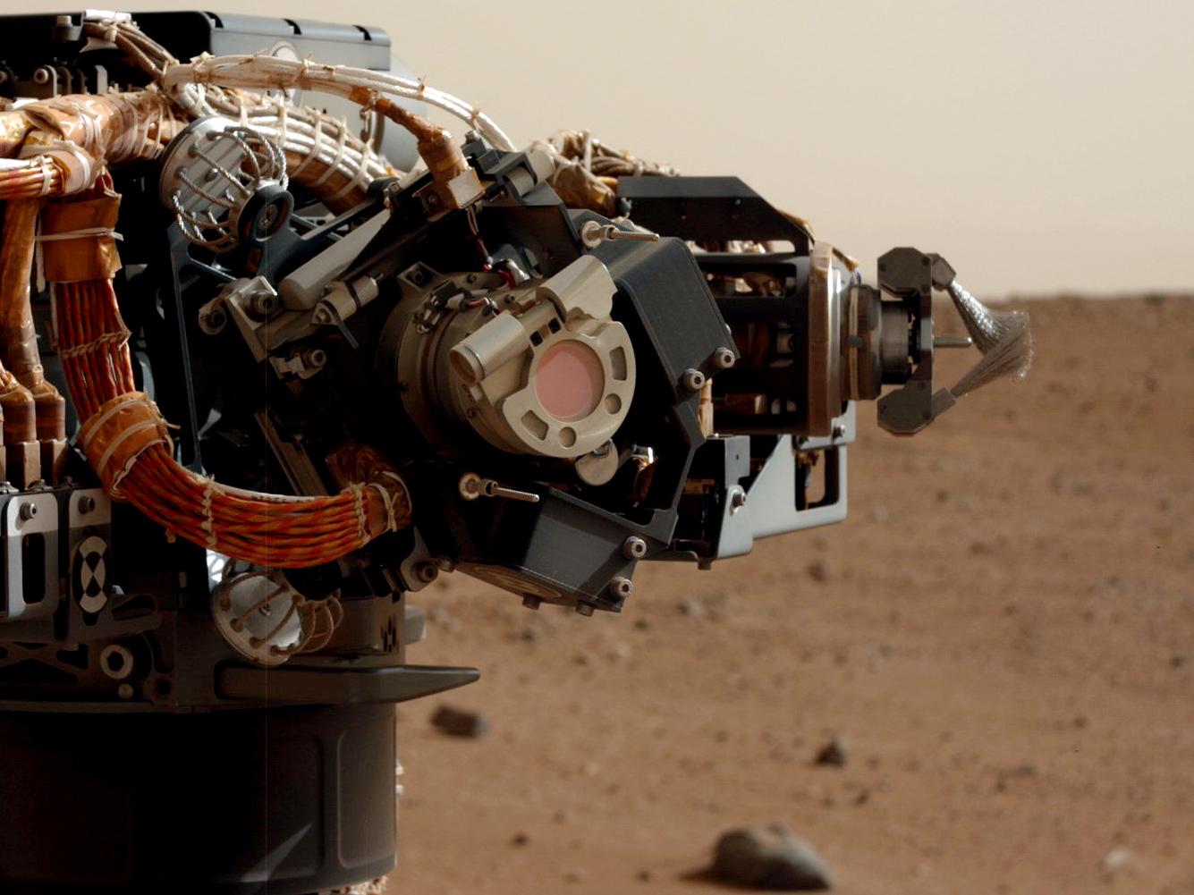 Mars Rover Curiosity's Arm Up Close